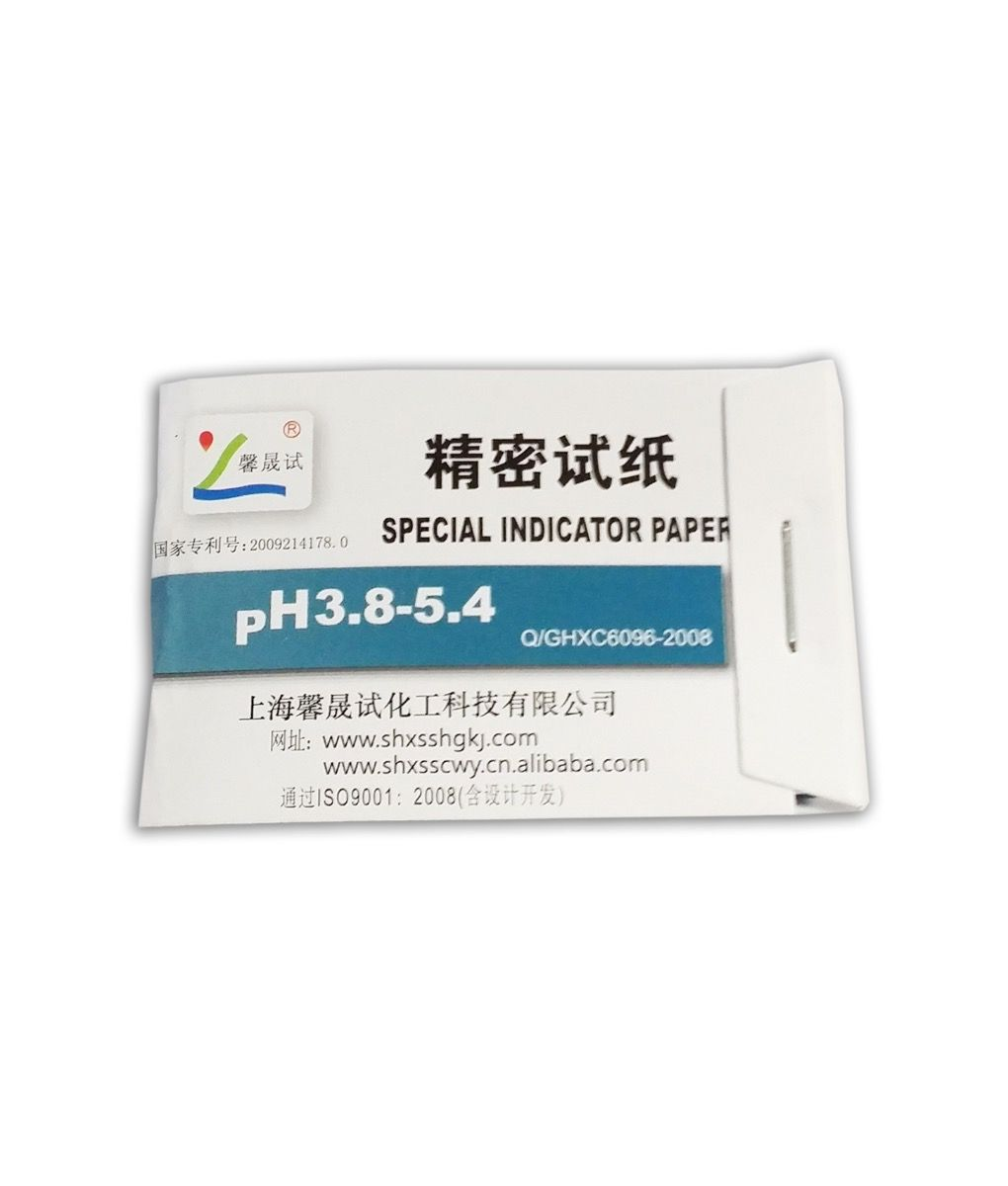10 Narrow Range pH Papers 3.8 - 5.4