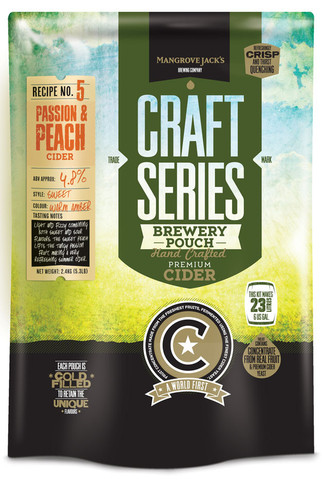 Mangrove Jack's Peach and Passion Cider Pouch