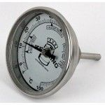 "Bi-Metal 3"" Dial Weldless Thermometer – Short Stem"