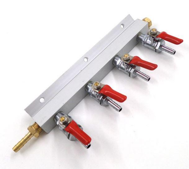 Gas Manifold 4 Way